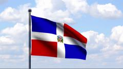 Animated Flag of Dominican Republic - stock footage