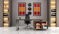contemporary office - stock illustration