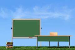 Outdoor lesson Stock Illustration