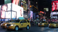 Taxi, Traffic Car, Yellow Cab, Evening, Night, People Times Square New York City Footage