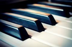 Piano näppäimistö Kuvituskuvat
