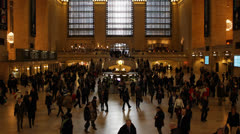Grand Central Terminal Station NYC, Busy People Commuters Morning go to work Stock Footage