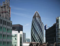 Gherkin tower london financial business district Stock Footage