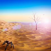 Life after the humanity, abstract environmental backgrounds Stock Illustration