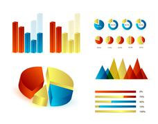 infographics elements - stock illustration