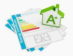 energy certificate - stock illustration
