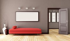 brown interior - stock illustration
