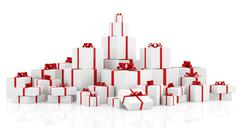 Stock Illustration of gift boxes over white