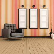 modern living room - stock illustration