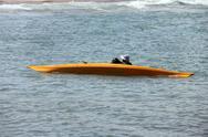 Kayaks on the beach Stock Photos