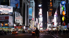 Entertainment District Shopping Street Fashion Modern Times Square New York City Stock Footage