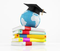 international graduation concept - stock illustration