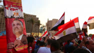Stock Video Footage of Crowds gather in Tahrir Square in Cairo, Egypt.