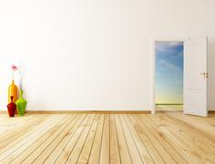 spring room - stock illustration