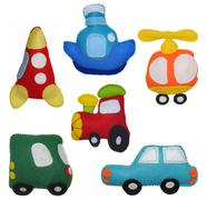 Felt toys vehicles Stock Photos