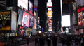 Advertising Signs Bilboards in Illuminated Times Square New York City, NYC night Footage