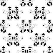 vine seamless pattern - stock illustration
