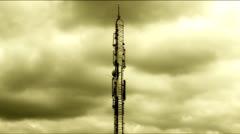 Media antenna timelapse /ntsc 27second Stock Footage