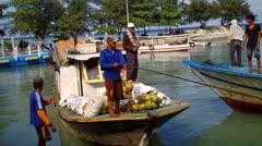 Wooden Boats at Pari Island Stock Footage