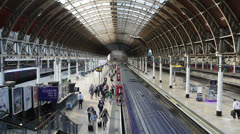 London Paddington Station Stock Footage