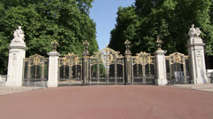 Canada Gate, Green Park, London, England Stock Footage