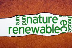 Nature renewable concept Stock Illustration