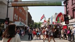 London Street Market Stock Footage