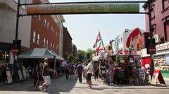 Inverness Street Market, London Stock Footage