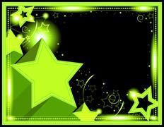 Neon Starburst Background Stock Illustration