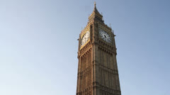 Big Ben, St Stephens Tower, Houses of Parliament, London Stock Footage