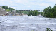 Lock and dam 1 Stock Footage