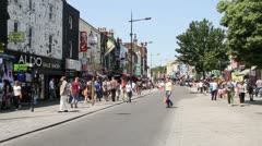 Camden Town Street Scene Stock Footage
