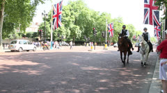 Mounted police in London Stock Footage