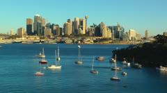 Time-lapse video of Sydney city skyline - stock footage