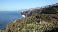 Tenerife - landscape near Puerto de la Cruz Stock Footage