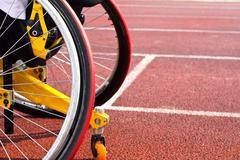 Wheelchair sportsmen Stock Photos