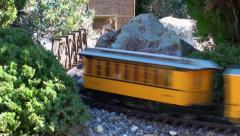 Model Train outside Stock Footage