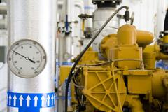 gas recovery plant - stock photo