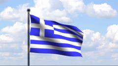 Animated Flag of Greece Stock Footage