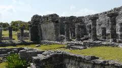 Mayan Ruin of Tulum Stock Footage
