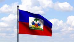 Animated Flag of Haiti - stock footage