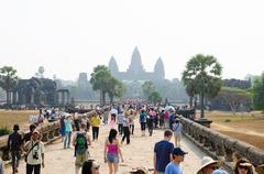 Angkor wat, cambodia Stock Photos