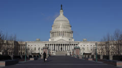 United States Capitol Building, Washington DC US Congress, People Walking, Sunny Stock Footage