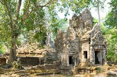 Preah pithu in angkor, cambodia Stock Photos