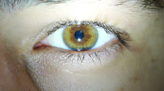 Eye Blink Stock Footage