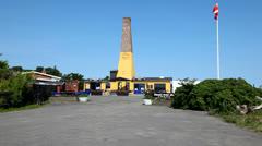 Herring smokerchemney at Bornholm, Denmark Stock Footage