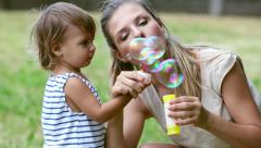Amazing bubbles Stock Footage