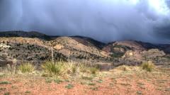 Colorado springs rain storm timelapse Stock Footage