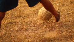 Soccer in Congo tight shot Stock Footage
