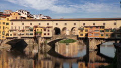 Ponte Vecchio bridge in Florence, Italy Stock Footage